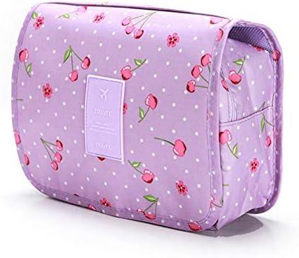 ZZFF 旅行化粧品袋の女性のメイクアップバッグトイレタリーオーガナイザー防水ストレージNeceserのハンギングバスルームウォッシュバッグ (Color : PurpleTao)