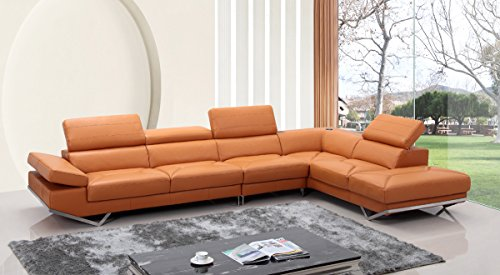 Orange Leather Sofas Couches
