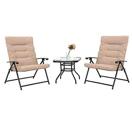 Sophia Amp William Padded Folding Bistro Set 3 Pcs