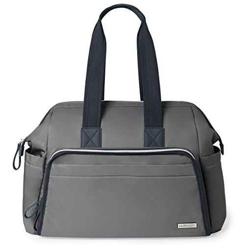 - Skip Hop Messenger Diaper Bag, Mainframe Large Capacity Wide Open Structure, Slate with Black Trim