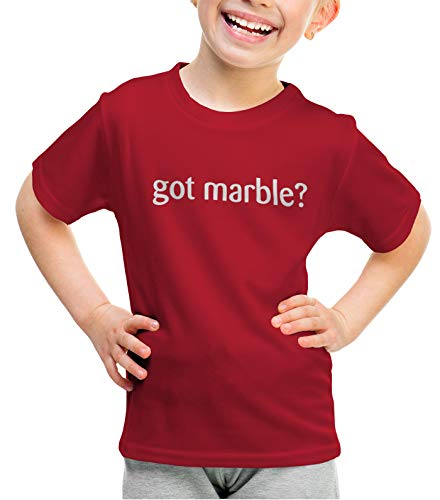 shirtloco Girls Got Marble Youth T-Shirt, Cherry Red Extra Small