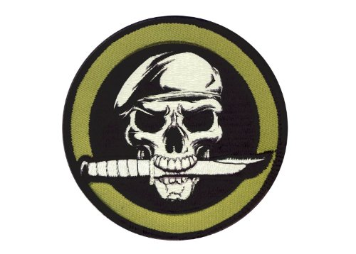 Rothco Militar Cráneo/cuchillo Patch con gancho Back