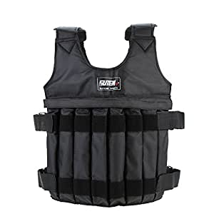 Festnight Adjustable Weighted Vest Weight Jacket Exercise Boxing Training Waistcoat Invisible Weightloading Sand Clothing (Empty), Max Loading 20kg