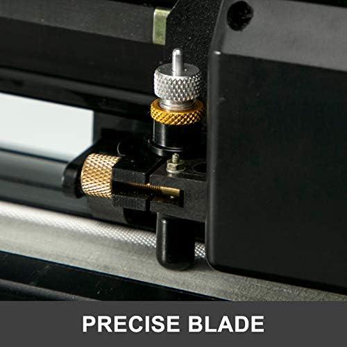 VEVOR Plóter de Corte 870 mm Máquina Cortadora de Vinilo con Soporte de Piso Plóter de Vinilo de Fuerza y Velocidad Ajustables para La Fabricación de Signos Máquina de Plotter de Corte