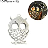 angel3292 10/20LED Battery Operated Hollow Owl Fairy String Light Party Home Decoration Warm White 3m 20LED