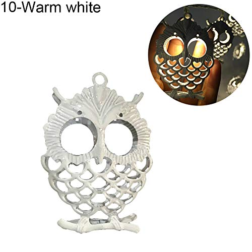 angel3292 10/20LED Battery Operated Hollow Owl Fairy String Light Party Home Decoration Warm White 3m 20LED by angel3292