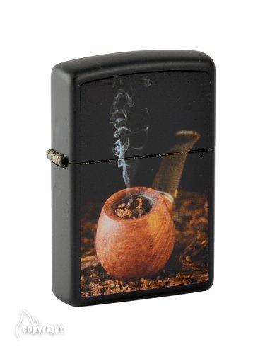 - Zippo 2.004.329New Pipe Lighter with Pipe Insert Chrome/Matt Black