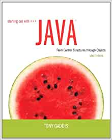 Starting out with java 5th edition