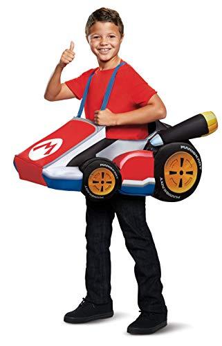 Disguise Super Mario Bros Mario Kart Costume for Kids (Custom Lego Mario)