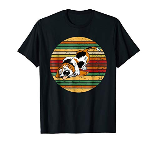 Basset Hound Shirt Retro Vintage 70S Silhouette Breed