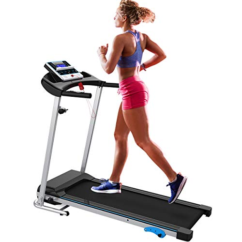 Merax Folding Treadmill Easy Assembly Electric Motorized Running Jogging Machine for Home (Black01)