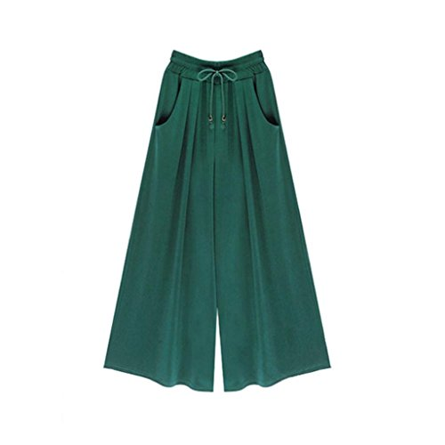Slinky Halter Long Dress (Hot Sale!Elevin(TM)2017 Women Plus Size Summer Fashion Loose Harem Pants Casual Wide Leg Pants Trousers (XXXL, Green))