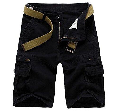 考慮セッティング解任AOWOFS パンツ メンズ 短パン カーゴショート 五分丈 無地 仕事着 作業服 ワイドパンツ 綿 6ポケット 春 夏 大きいサイズ 部屋着ズボン 半パンツ 5色