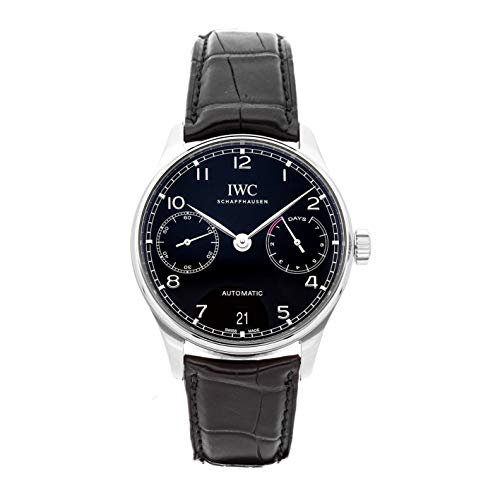 - IWC Portugieser Mechanical (Automatic) Black Dial Mens Watch IW5007-03 (Certified Pre-Owned)