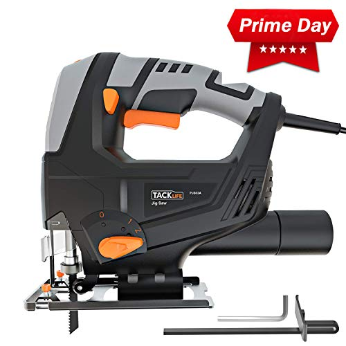 - TACKLIFE Deals Week: 5Amp 3000SPM Jigsaw, Adjustable Speed (1-6 dial) & Bevel Angle (0°-45°), 118-inch Cord Length, Pure Copper Motor, Dust Extraction, Parallel Guard - PJS03A