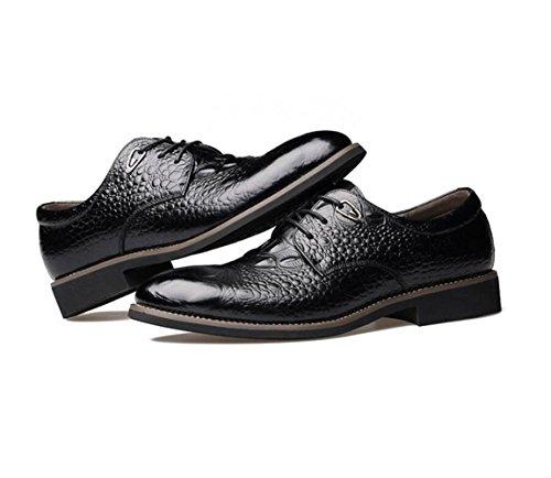 Koyi Printemps Nouvelles Chaussures en Cuir pour Hommes Britanniques Affaires Printemps Dentelle Chaussures Printemps Chaussures Garçons Sandales Black Wj3Td