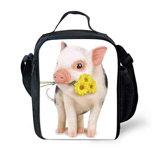 Pig Lunch Bags For Kids Insulated Bento Bag Lunch Tote ()