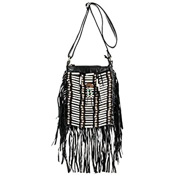 Simply Be Womens Suede Fringe Tote Bag
