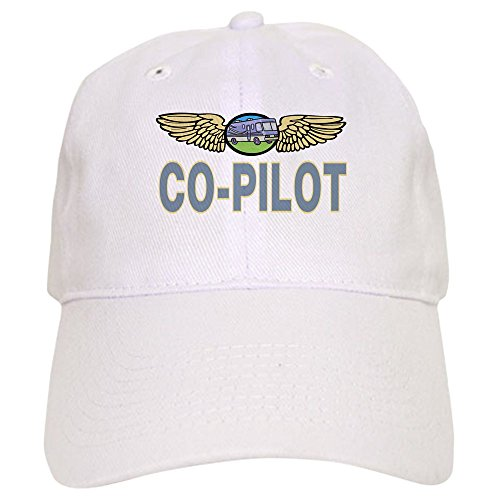 CafePress RV Co Pilot Baseball Cap with Adjustable Closure, Unique Printed Baseball Hat White