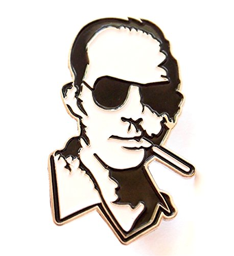 [Hunter S. Thompson Black and White Smoking Lapel Pin] (Gonzo Adult Costumes)