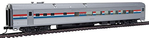 Walthers-85' Budd Diner - Ready to Run -- Amtrak (Phase III, silver, Equal red, ()