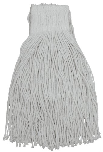 (Zephyr 17716 Wipeup 8-Ply Cotton 16oz Mesh Band Cut End Wet Mop Head with 5