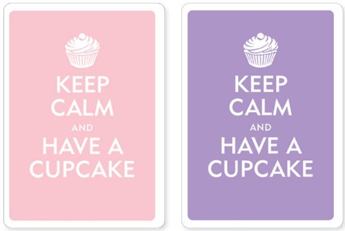 Download Keep Calm and Have a Cupcake Premium Plastic Playing Cards, Set of 2, Poker Size Deck (Standard Index) ebook