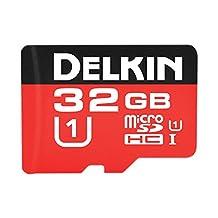 Delkin 32GB MicroSDHC 500X UHS-I (U1) Memory Card