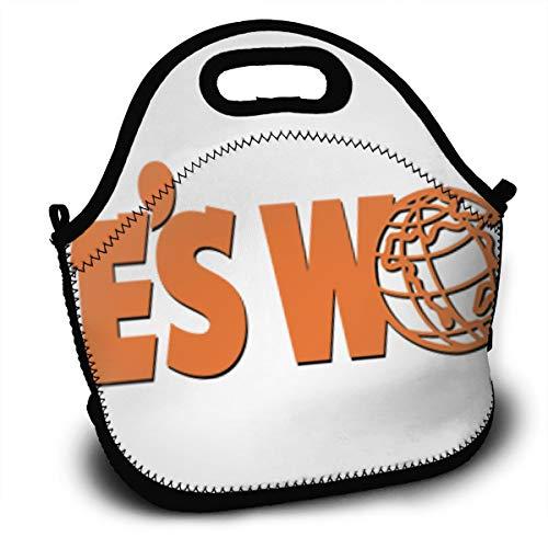 NA Wayne's World 2 Logo Portable Lunch Bag Picnic Outdoor Travel Classic Handbag Pouch For Women Men Kids Girls