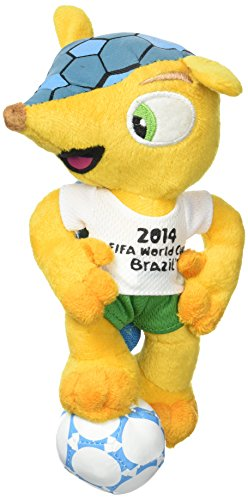 Fuleco plush 17 cm standing on ball - The official mascot of the 2014 FIFA World Cup Brazil -