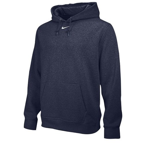 Nike Men's Team Club Fleece Hoody Navy (Nike Navy Blue Sweatshirt)