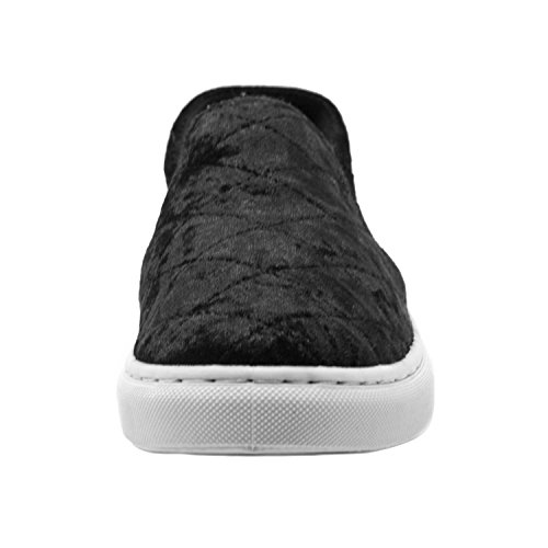 Blue Womens GABY-VEL-2 Slip on Sneakers Fashion- GABY-VEL-2 Gaby-vel-2 Black RDSd09s