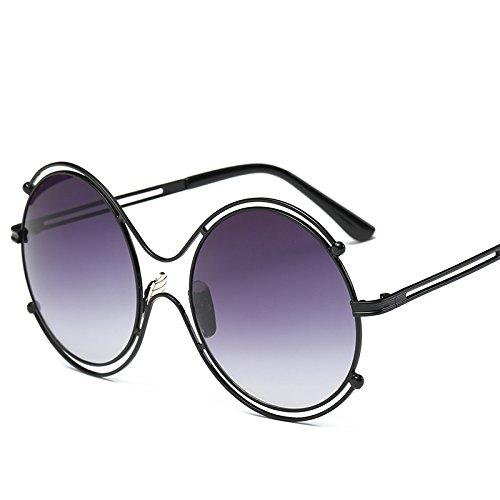 frameddouble Unisex Black Silver Nuevas Clásicas Gafas Retro De Sol De Sol framedTransparent Estilo gray Moda RJKIDD Populares De Gafas De P1SUSq