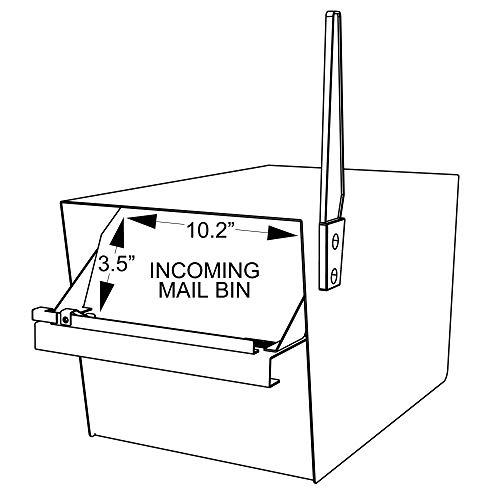 Mail Boss 7526 Mail Manager Street Safe Locking Security Mailbox, Black by Mail Boss (Image #1)