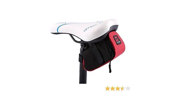 Bicicleta bolsa de sillín, B-SOUL bicicleta asiento bolsa al aire libre Ciclismo Montaña Bicicleta Asiento Trasero Cola bolsa paquete bolsa de almacenamiento rojo: Amazon.es: Deportes y aire libre