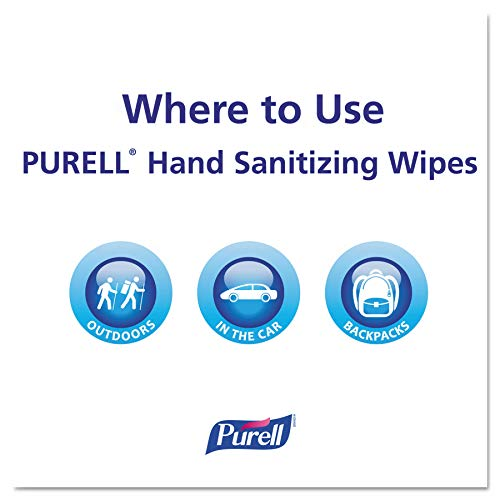 PURELL Hand Sanitizing Wipes, Fresh Citrus Scent, 100 Count Non-Linting Wipes Eco Slim Wipes Canisters (Case of 12) - 9111-12 by Purell (Image #5)
