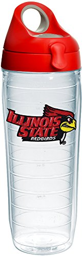 - Tervis 1231341 Illinois State Redbirds Logo Insulated Tumbler with Emblem and Red with Gray Lid, 24oz Water Bottle, Clear