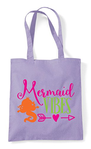 Mermaid Cute Tote Statement Shopper Bag Vibes Lavender FaFAqU