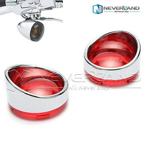 - NEVERLAND 2 inches Chrome Visor-Style Turn Signal Bezels With Smoke Lens For Dyna Street Glide Road Softail Custom Cruiser