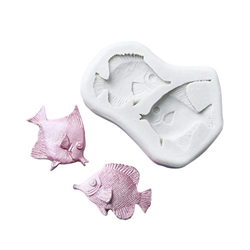 (G.G.W 1PCS Tropical Fish Cup Cake Decorating Mould for Soaps Candy Chocolate Gummies Clay Making Cake Molds Baking Molds Kitchen Accessories Tools)