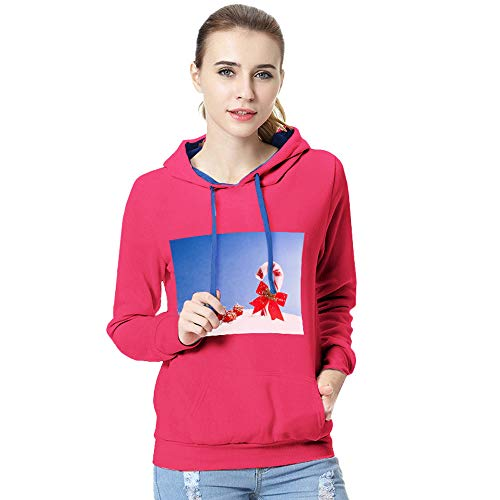 iYBUIA Christmas Women Long Sleeve Snowman Print T-Shirt Casual BlouseTops Autumn Winter Hooded Sweatshirt Blouse(U-Hot,CN:M/US:6)