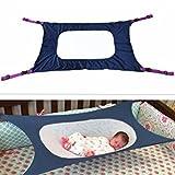 Colorfulworld Multi Style Safety Baby Crib Hammock Hanging Detachable Portable Newborn Baby Sleeping Nursery Beds Cradles (Deep Blue)