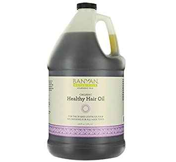 Amazon Com Banyan Botanicals Healthy Hair Oil Organic Herbal Oil With Bhringaraj Amla Ayurvedic Hair Care For Strong Thick Lustrous Hair For Scalp Massage 128oz Non Gmo