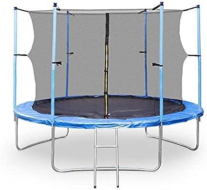Klarfit Rocketgirl XXL Cama elástica - 305 cm, Red de Seguridad, Tubos de gomaespuma, Escalera de Aluminio, Carga MAX 150 kg, Protector de Lluvia, Resistente Rayos UV, Patas Dobles, Azul: Amazon.es: Deportes
