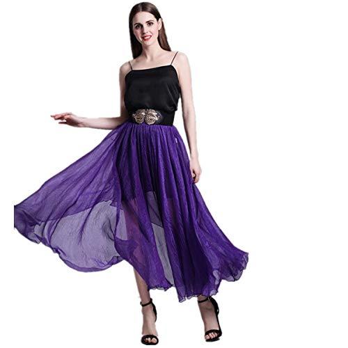 Da Chiffon Dimensione gonna Di Lunga Vestito Xl In colore Marca Viola Donna Lunga Fuweiencore gonna fqH5wgv