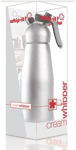 Brand Professional 1-Liter Anodized Dispenser with High Impact Head White Whip-It
