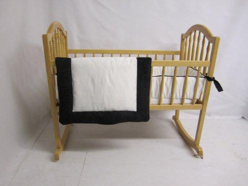 Baby Doll Bedding Zuma Cradle Bedding Set, Black/White by BabyDoll Bedding