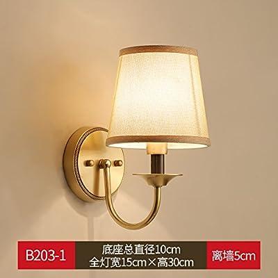 lampe de chevet chambre mur am ricain cuivre t te simple. Black Bedroom Furniture Sets. Home Design Ideas