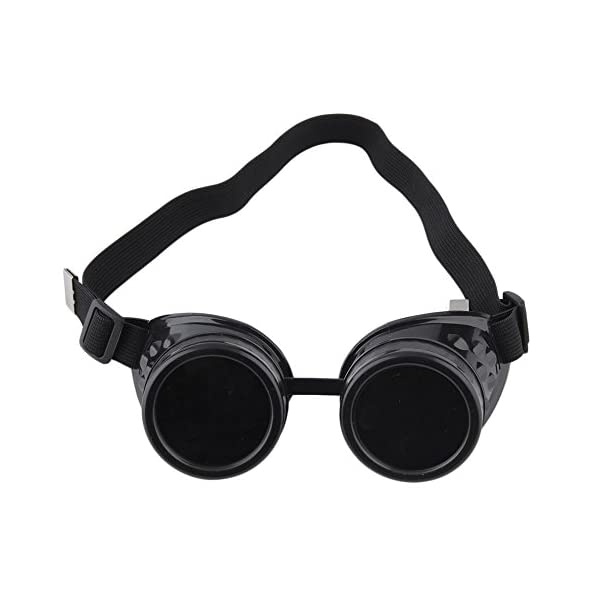 Nicky Bigs Novelties Steampunk Cosplay Goggles, Black, One Size 9