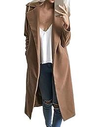 YACUN Women's Winter Long Sleeve Jacket Long Coat Tops For Work Office
